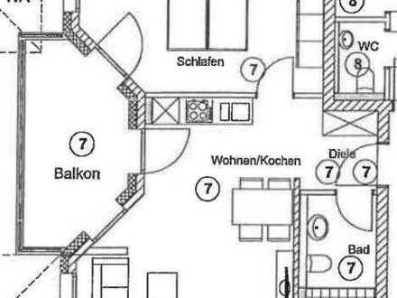 2 Zimmer Wohnung mit Balkon 50m² - Erstbezug - W7