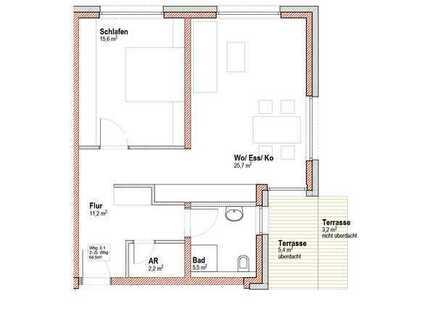 Neubau-Erstbezug: 2-Zimmer-Wohnung für gehobene Ansprüche (NK inkl. Strom!)