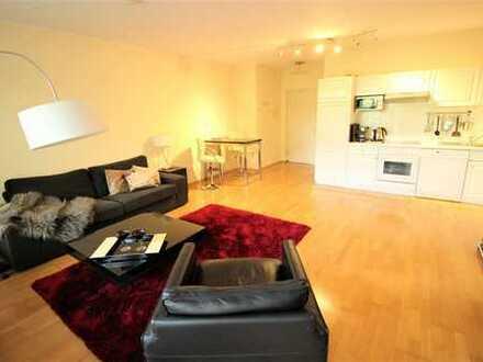 Aparte, moderne 2-Zi-Wohnung mit großem Balkon und Einbauküche in Düsseldorf-Oberkassel!!!