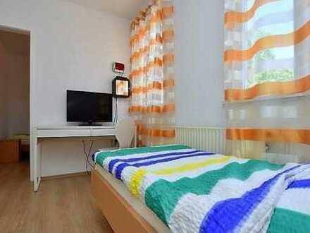 ab 1 Monat: möblierte 3-Zimmerwohnung mit WLan, TV, Küche, Dusche/Wc, Einzelbetten