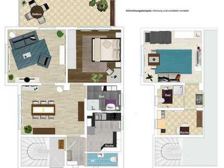 Frisch sanierte 4,5 Zi-Wohnung (mit abgegrenztem 1,5 Zi-Bereich) in super Lage von Schorndorf-Süd