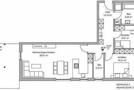 A96: NEUBAU - 3 ZIMMER ERDGESCHOSS-WOHNUNG MIT GARTENANTEIL IN TÜRKHEIM