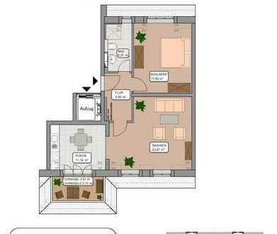Bezug Anfang 2020 - 2-Zimmer Dachgeschosswohnung in gepflegter Anlage