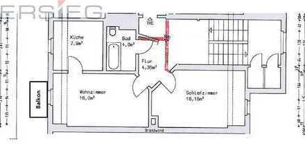 2-Zimmer mit BALKON in bester Lage!