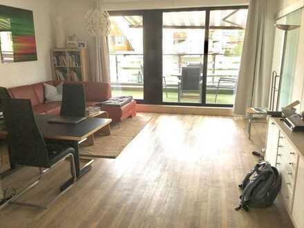 Modernes, großzügiges Appartement, Rheinnähe, EBK, Terrasse, Einzel-Garage mit Stellplatz