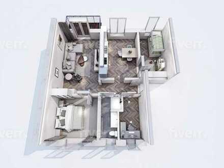 sanierte 4-Raum Wohnung im Grünen