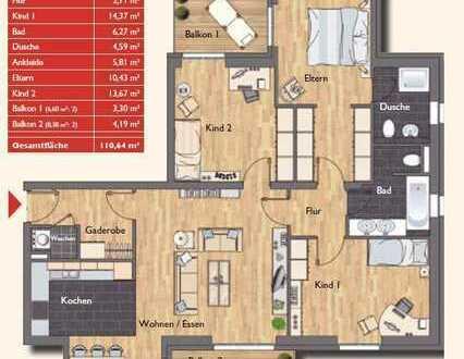 Moderne 4 Zimmer-Wohnung in bevorzugter Wohnlage