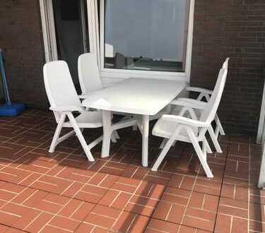 Großzügiges 1-Raum Apartment in zentraler Lage mit großem Westbalkon in Super-Lage von Norderney