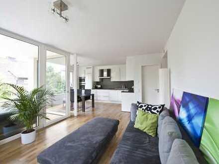 Stilvolle, neuwertige 3,5-Zimmer-Wohnung mit Balkon und Blick ins Grüne
