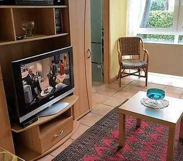 Stilvolle, gepflegte 2-Zimmer-EG-Wohnung mit Balkon und Einbauküche in Düsseldorf