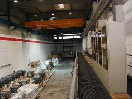 Ideale Produktionshallen mit 4 Portalkranbahnen (bis zu 20t Traglast) und Überdachter Andienung