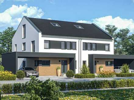 Neubau Doppelhaus/ Reihenhaus - inkl. Grundstück, Keller, KfW40 Haus, Carport & Aktionsküche