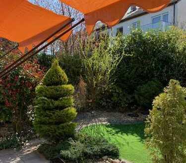 Rarität in Stetten, Top 2,5 Zi Wohnung mit Terrasse und Garten