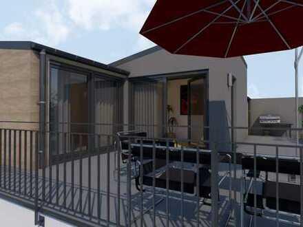 Exlusive 3-Zimmer Penthousewohnung mit großer Dachterrasse im 3-Familienhaus