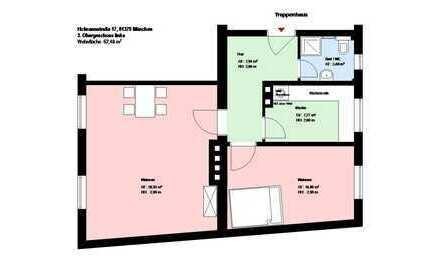 ***2-Zimmer Wohnung in Sendling***Küche mit EBK***Bad mit Fenster***