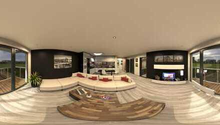 Neubauwohnung 3-Zimmer-EG-Wohnung mit Balkon und Garten im Zweifamilienhaus