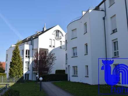 Zur Kapitalanlage: vermietete 1-Zi.-Dachgeschoss-ETW mit schönem Ausblick und TG-Stellplatz