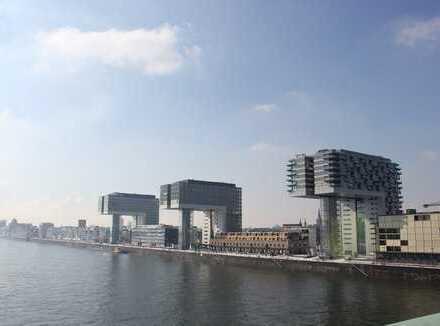 Rheinauhafen, hochwertig voll möblierte 3-Zimmer-Wohnung,Kranhaus Nord, 2 Bäder