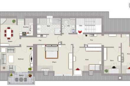 Hier finden Alle und Alles Platz! Große DG-Wohnung im 1. OG mit Garage in Notzenhausen bei Mainburg