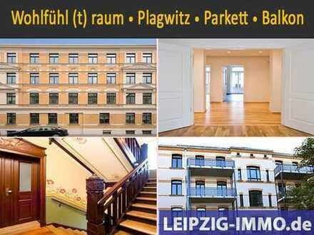 Plagwitz * 3 Raum * Balkon * Bad mit FuBo + Wa + Du * Gäste-WC * Parkett * Lichtdecke