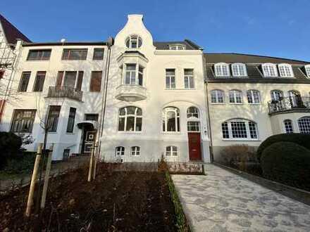 Jugendstil-Stadthaus, denkmalsaniert im Herzen des Bismarckviertels, 30 Minuten bis Düsseldorf