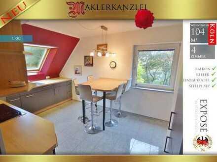 +++ NEU +++ Große Maisonettewohnung mit verglastem Balkon, Kellerraum, Einbauküche (frei ab sofort)
