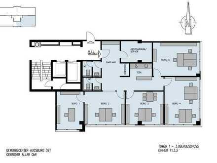 Moderne Bürofläche-155 m²-effizient geschnitten mit Highspeedinternet über Glasfaser! - ready to go