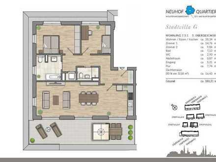 Exklusive Penthousewohnung mit großer Dachterrasse - Wohnkomfort für die ganze Familie
