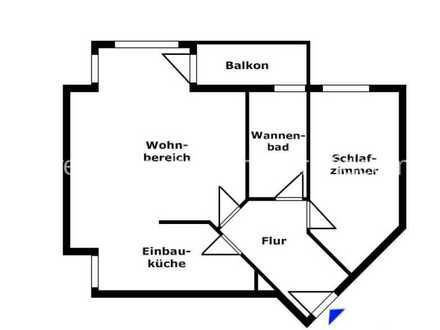 Helle geräumige 2 Zimmerwohnung in Ahrensfelde OT Blumberg