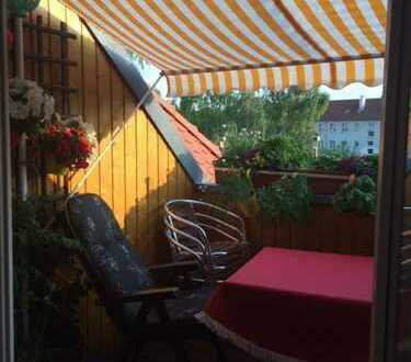 Attraktive 3-Raum Dachgeschosswohnung mit Balkon, EBK, Gäste-WC in Leipzig Gohlis