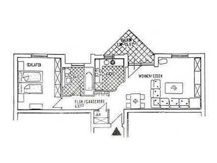 Gutgeschnittene 2-Zimmer Wohnung in gepflegtem Mehrfamilienhaus, Main-Kinzig-Kreis, Schlüchtern