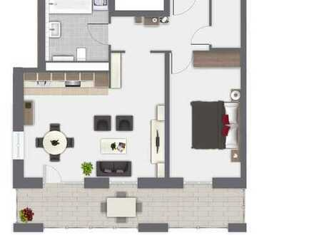 Moderne Neubau- 2-Raum-Wohnung mit Balkon
