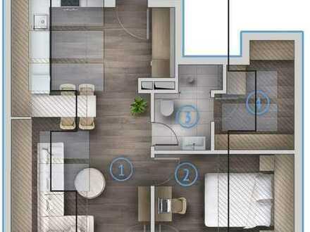 Exklusive 2-Zimmer Spitzbodenwohnung
