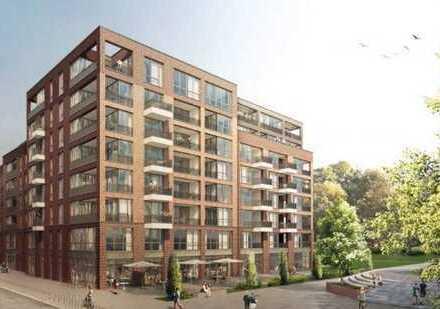 Helles Neubau-Luxus-Penthouse mit Dachterrasse über den Dächern von HH-Barmbek