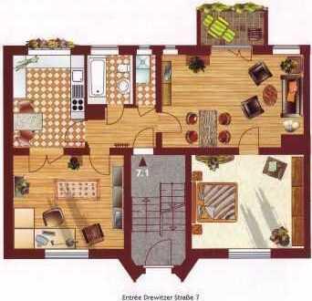 """""""Im Eichenhain"""": Großzügige 3-Zimmer-Wohnung mit Balkon zur Gartenseite"""