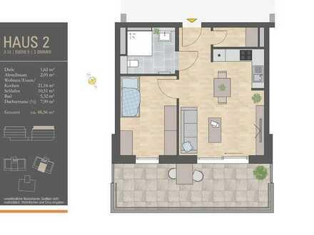 So will ich im Alter leben! 2-Zimmer-Wohnung mit Fernsicht! - H2/W10
