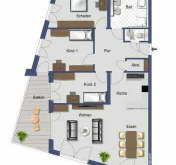 4-Zimmer Wohnung mit Tageslichtbad