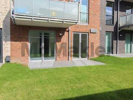 Moderne, barrierefreie 3-Zi.-Wohnung mit Terrasse und Carport in Erstbezug - nahe Nordsee!