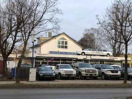 Autohaus, Halle, Werkstatt mit Villa u. Pool 100 mtr. hinter Ortsschild München