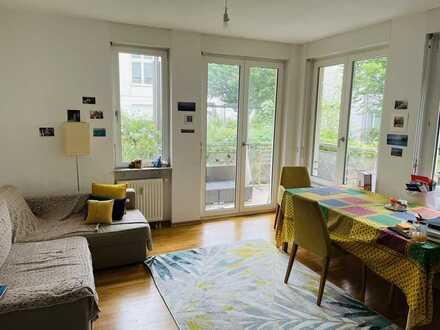 Exklusive 2-Zimmer-Erdgeschosswohnung mit Balkon und Blick ins Grüne in der Berliner Vorstadt