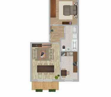 Ideal für Single, 2 Raum WE mit Einbauküche und Balkon