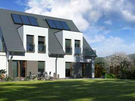 2 Doppelhaushälften = ein Preis, inkl. Grundstück.