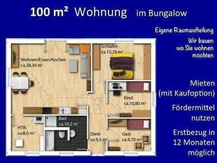 100 m² Bungalow - der Wunsch vieler Kunden - alles auf einer Ebene