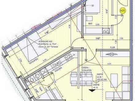 Vermietung - Moderne, helle 2-Zimmer-Erdgeschosswohnung mit Terrasse in Borken-Weseke