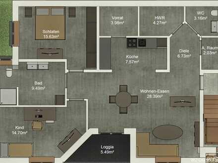 Große 3-Zimmer-Etagenwohnung