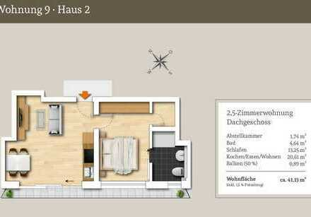Ideal zur Vermietung - 2,5 Zi.-Dachgeschosswohnung