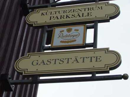 """Gaststätte """"Parksäle"""" mit Biergarten im Kulturzentrum"""