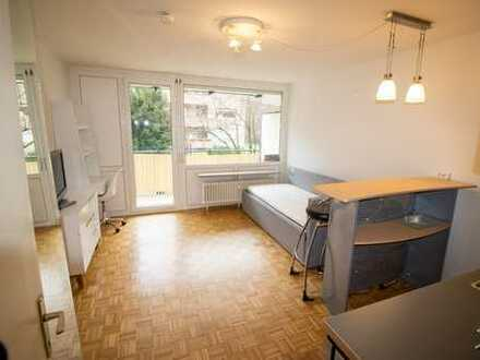 Möbliertes 1 Zimmer Apartment mit Balkon in Neuried zu vermieten