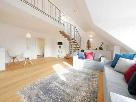 Erstbezug nach Sanierung   Exklusive 2,5 Zi. Dachgeschoss-Maisonette-Wohnung in begehrter Lage