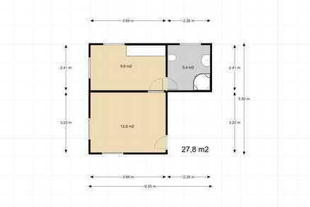 Exklusive, sanierte 1,5-Zimmer-Wohnung mit EBK in Sasbach am Kaiserstuhl